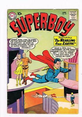 Superboy # 81 The Weakling from Earth ! grade 4.0 scarce book !!