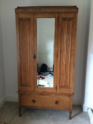 Arts and Crafts style gentlemans wardrobe excellent condition