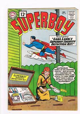 Superboy # 93 The Great Super-Hunt ! 10th Legion app grade 4.0 scarce book !!