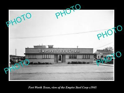 OLD LARGE HISTORIC PHOTO OF FORT WORTH TEXAS, THE EMPIRE STEEL Co BUILDING c1945