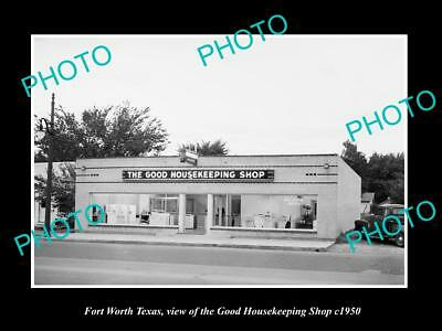 OLD LARGE HISTORIC PHOTO OF FORT WORTH TEXAS, THE GOOD HOUSEKEEPING SHOP c1950