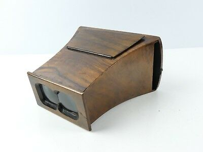 Antique Vintage Wood Stereo Viewer Brewster Stereoscope