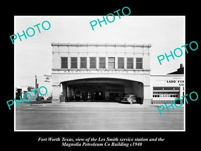 OLD LARGE HISTORIC PHOTO OF FORT WORTH TEXAS, THE MAGNOLIA PETROLEUM Co c1940