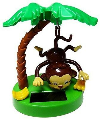 Solar Powered Swinging Monkey Hanging By Tail