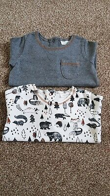 Next Baby boy long sleeved tshirt tops x2 age 3-6months