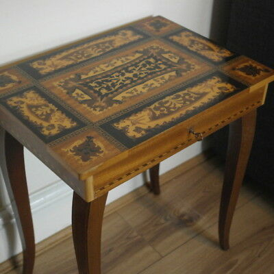 vintage serrento inlayed musical SIDE TABLE
