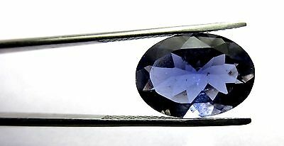 6.70 Ct Natural Madagascar Iolite Loose Gemstone 16.5x12mm Oval Faceted Cut S42