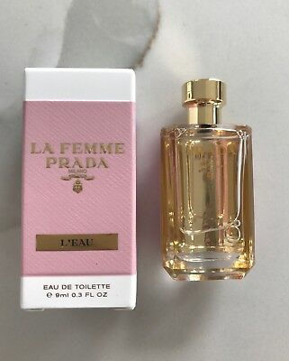 82c92b38ecb11 PRADA LA FEMME L EAU EDT eau de toilette mini splash 9 ml   0.3 oz ...