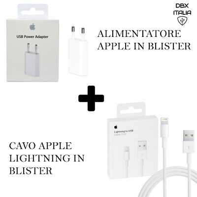 Carica Batteria MD813 e Cavo MD818 per Apple iphone 5 6 7 8 Plus X XS ORIGINALE