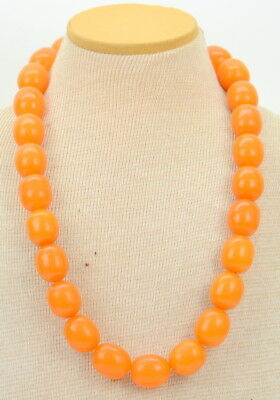 Vintage Butterscotch Baltic Amber Necklace Bead Strand NR