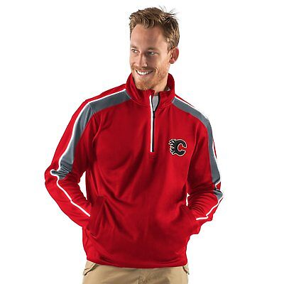 92d4b0cd913 Calgary Flames G-III Sports NHL Men s Synergy Half Zip Pullover Jacket