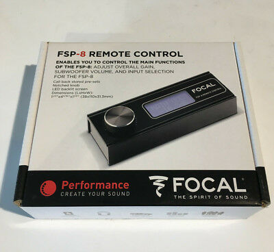 Focal Elite Lcd Remote Control Per Fsp-8 Processore Audio Dsp