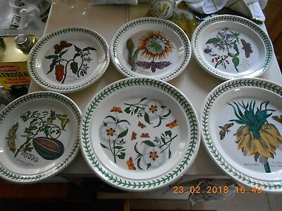 Portmeirion Botanic Garden 2 Dinner Plates And 4 Medium Plates