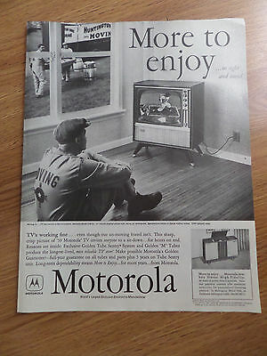 1958 Motorola TV Television Ad Movers TV's Working Fine