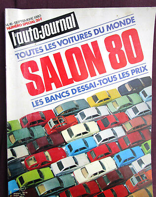 L'AUTO-JOURNAL  N° SPECIAL SALON  septembre 1980 salon  80