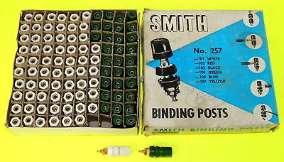 100 Vintage 1950's Bakelite HH Smith 257 BINDING POSTS #101 & 104 - New OS