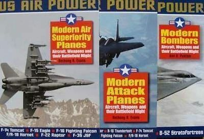 3 Livre/books : Us Aircrafts/avion Militaire F-14,f-15,f-16,b-1,b-2,b-52,f-117