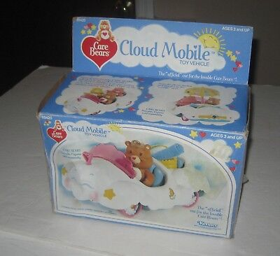 Kenner 1984 Care Bears Cloud Mobile Toy Vehicle New