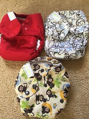 Swaddlebees Simplex AIO Cloth Diapers Lot of 3
