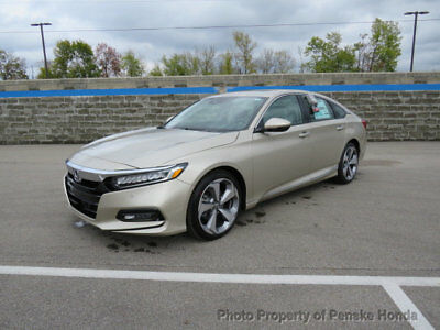 2018 Honda Accord Touring CVT Touring CVT New 4 dr Sedan CVT Gasoline 1.5L 4 Cyl Champagne Frost Pearl