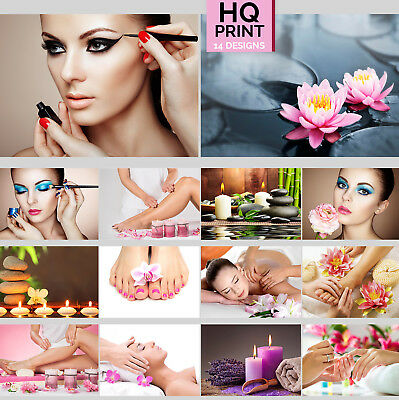 SALON Nail Beauty MAKE UP SPA Barber Hairdresser MANICURE Pedicure POSTER A4-A2