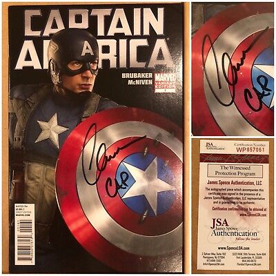 Captain Ameriva signed comic, signed by Chris Evans