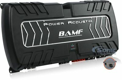 POWER ACOUSTIK 8000W Class D 1-Ohm Stable Strappable Car Amplifier BAMF1-8000D