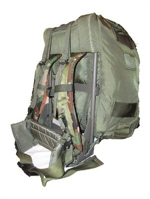 US Army ALICE Medium OD green Camo Field Pack  w/ Frame, Straps, Belt used good