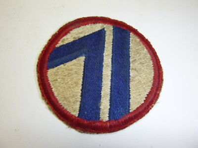 A     WW 2 U S Army  71st Division   Cut Edge Snow Back Patch