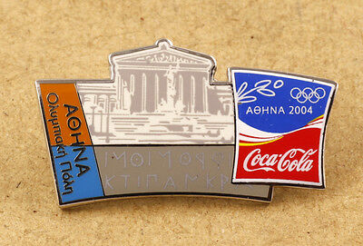 Greece Athens 2004 Olympics Coca-Cola Pin Athens Olympic City