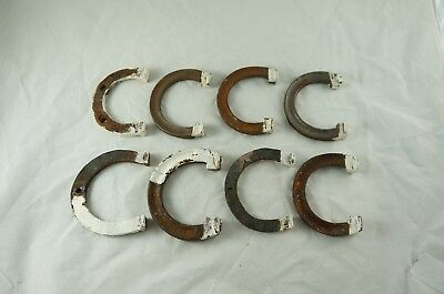Lot of Antique Victorian cast iron bed hooks, horseshoe style C / D