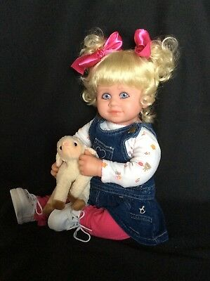 My Twinn Doll Toddler * Faith * Blue Eyes * Blonde Hair * FREE EXTRA OUTFIT