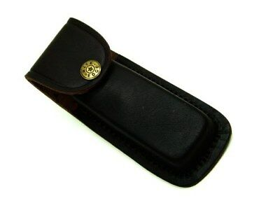 """Brown PA33235 Leather Belt Sheath Pouch For Folding Knife Or Tool Up To 5"""""""