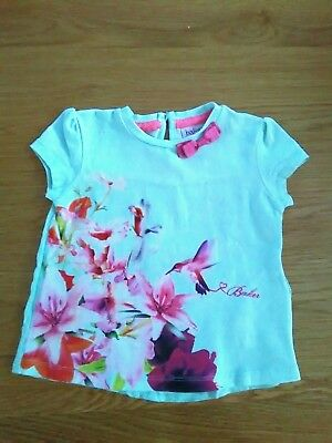 Ted Baker baby girls short sleeve top 9-12 months in excellent condition