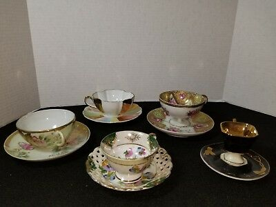 Lot of Vintage Tea cups and saucers (5) all different