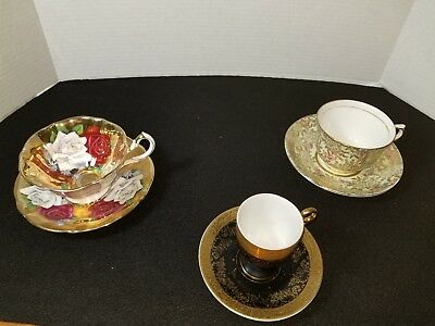 Lot of 3 Vintage Tea Cups with English markings
