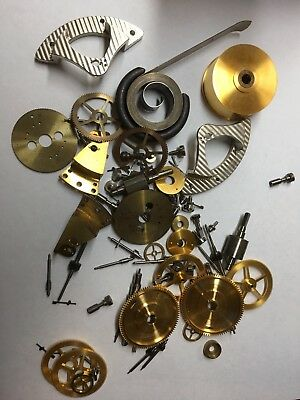 Assortment of Clock PARTS for the 1940s ELGIN Model 600 Marine Ship Chronometer