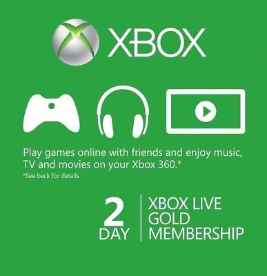*EMAIL DELIVERY Xbox Live Gold 48 HOURS 2 DAYS CODE