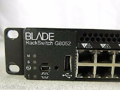 IBM BLADE RackSwitch G8052 LAYER 3 Gigabit Switch 49Y7894 7309-HC1 7309-G52