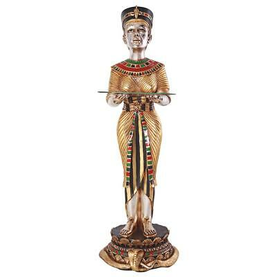 Ancient Egypt Egyptian Queen Unique Furniture Glass Top Table Decor African Art