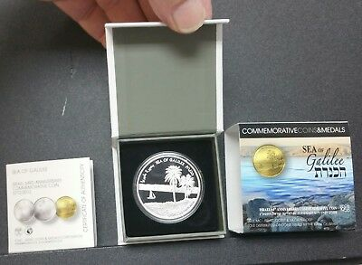 Israel 2012 THE SEA OF GALILEE Tiberias 64th Anniversary Silver Proof Coin 2 NIS