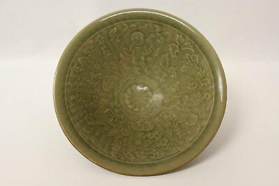 A Rare & Exquisite Song Dynasty Yaozhouyao Celadon Bowl with WinowedvFloral-Chi