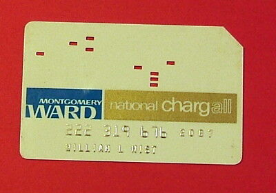 1960's Montgomery Ward National ChargAll Credit Card
