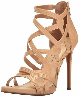 35ba465af4 Jessica Simpson Rainah Strappy Sandals Buff 9.5M High Heel Open Toe Shoe