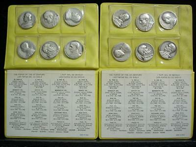 Noblespirit NO RESERVE {3970} 2x Popes of the 20th Century Medallion Sets!