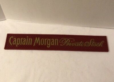 Captain Morgan Red Private Stock Bartenders  Rubber Bar Rail Mat Home Bar Spills