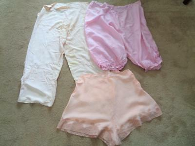 Antique Vintage French Lace Panties Bloomers Underwear X Large Peach Victorian