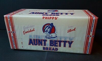 Vintage Aunt Betty Bread Wrapper Label Phipps  Bakery Weatherford Texas