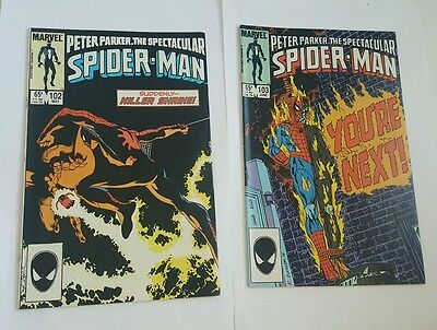 peter parker, the  spectacular spiderman # 102,103