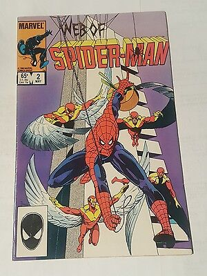 web of spiderman # 2 , 1985 direct edition
